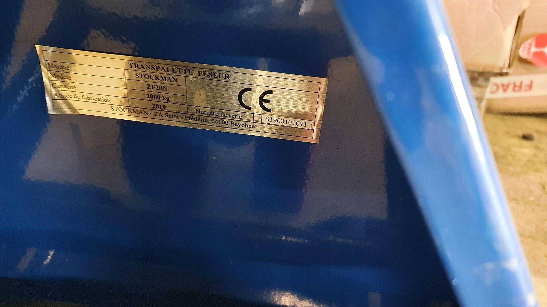 transpalette manuel peseur Stockm ZF20N location vente neuf ou occasion