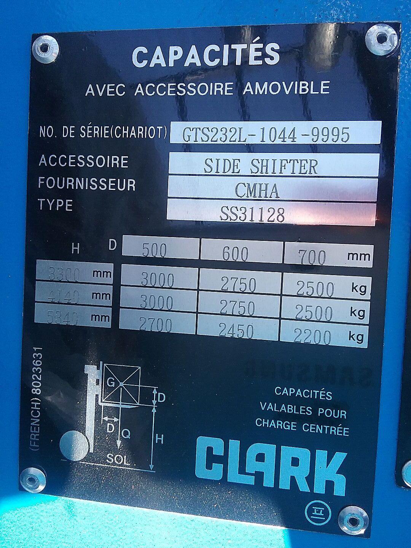 chariot élévateur à fourches CLARK GTS33L location vente neuf ou occasion