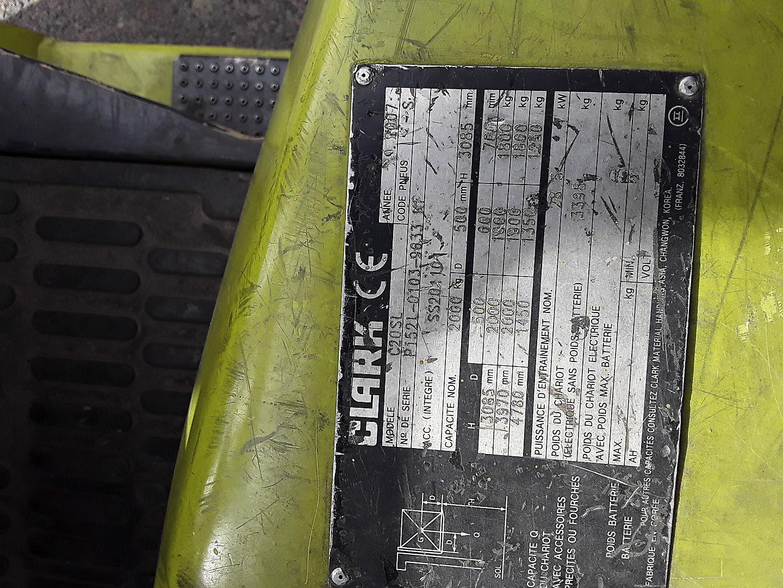 location vente occasion chariot élévateur à fourches CLARK C20SL 9633